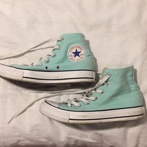 Teal High top converse